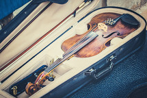 a violin in a case