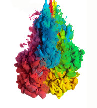 rainbow of ink in water