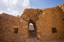 ruins at Masada in Israel
