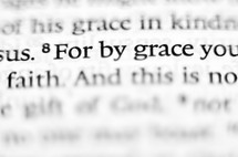 For by grace