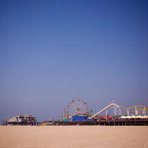 A carnival on the beach.