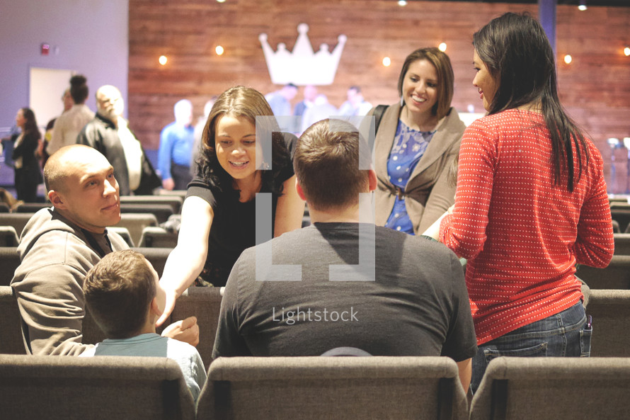 families at church together