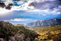 mountains and lake in Albuquerque, New Mexico