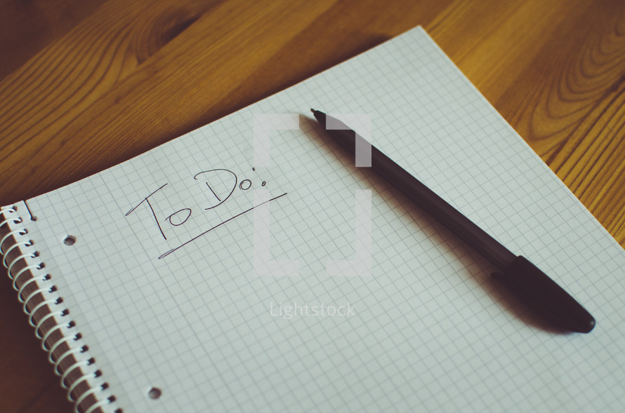 TO DO list and pen