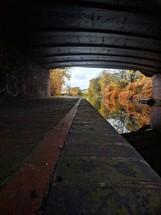 canal under a bridge