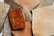 These are sherds of pottery from an archeological dig in search of Sodom and Gomorrah.