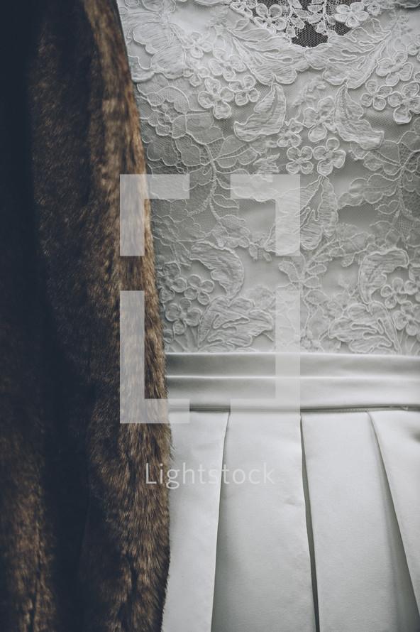 lace on a wedding dress