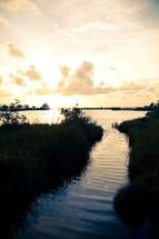 intracoastal waterway and marshland