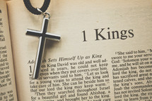 1 Kings and cross necklace