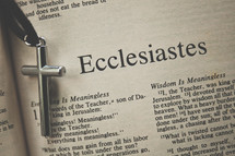 Ecclesiastes and a cross necklace