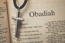 Obadiah and a cross necklace