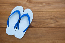 flipflops on wood