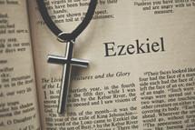 Ezekiel and a cross necklace
