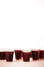 A collection of communion cups isolated on white