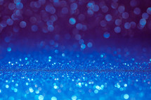 blue bokeh light