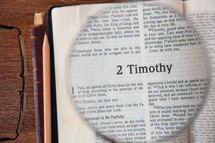magnifying glass over 2 Timothy