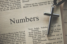 Numbers and a cross necklace