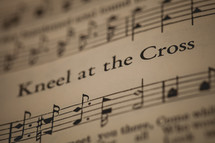 Kneel at the Cross sheet music