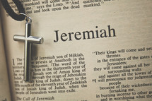 Jeremiah and a cross necklace