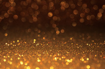 gold sparkling bokeh light