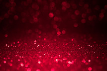 red bokeh sparkling light background