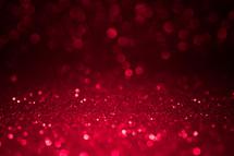red bokeh sparkling light background
