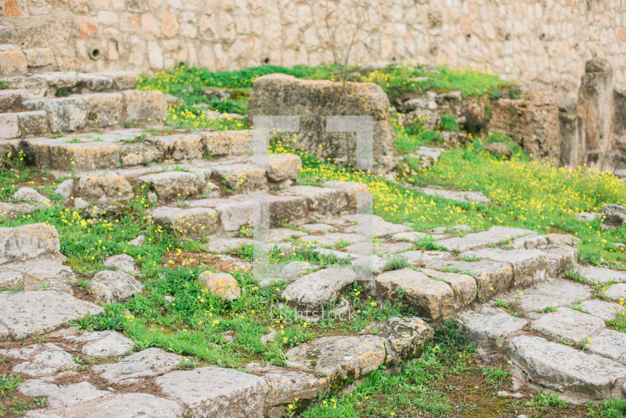 stone steps outdoors in the Holy Land