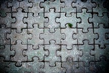 puzzle of stone