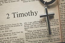 2 Timothy and a cross necklace