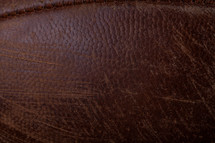 leather on a football