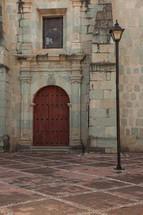wood door to a castle