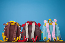 row of book bags