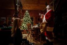 Santa and a little girl