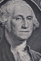 Georege Washington on a dollar bill