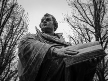 A statue of the reformer Martin Luther