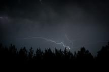 lightning in a night sky