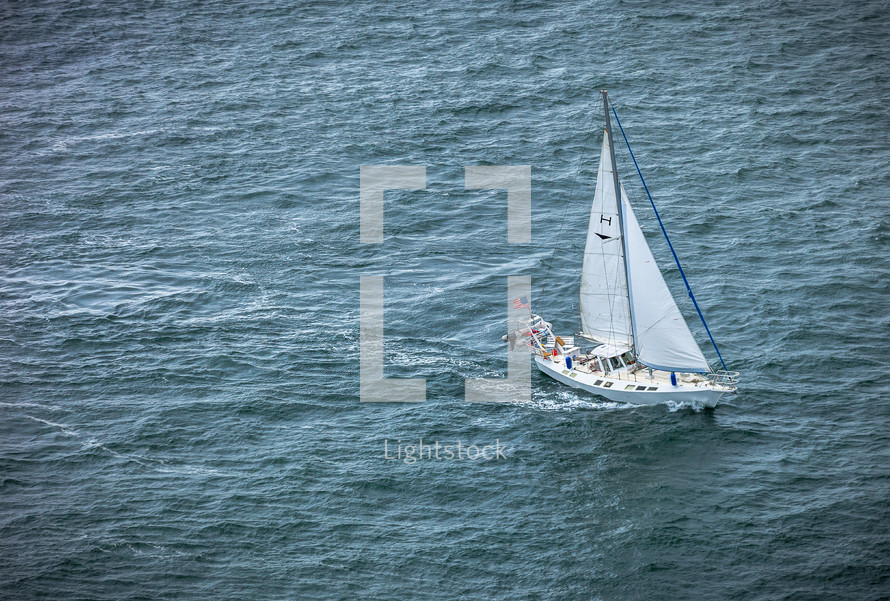 sailboat in the ocean