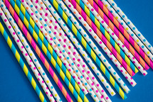 rows of paper straws