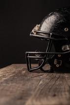 scratches on a football helmet