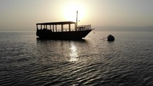 Sea of Galilee Boat Silhouette
