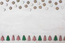 Christmas tree and stars border