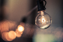 Light bulb with bokeh background