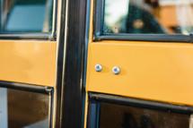 doors on a school bus