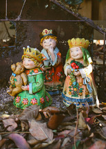 three kings figurines for a Nativity scene