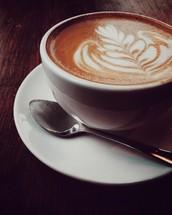 design in a latte