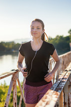 jogger with earbuds