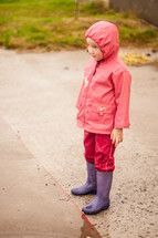 child in rain gear