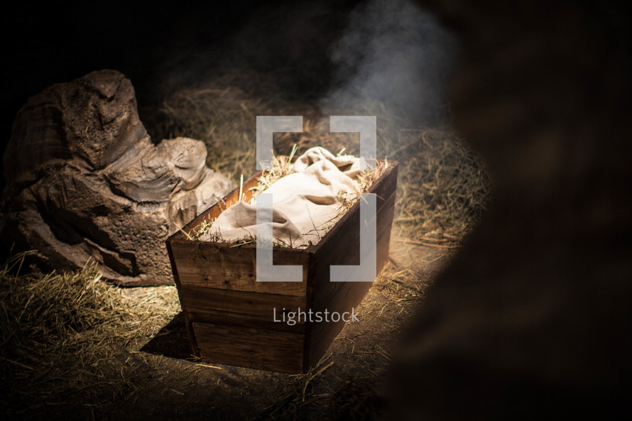the manger where baby Jesus was laid