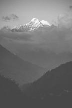 mountain peak, Nepal, mountains, outdoors, snow covered, landform