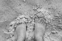 feet in the sand